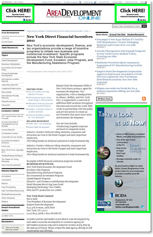 Sample State Resource Article Page/Half-Page Ad