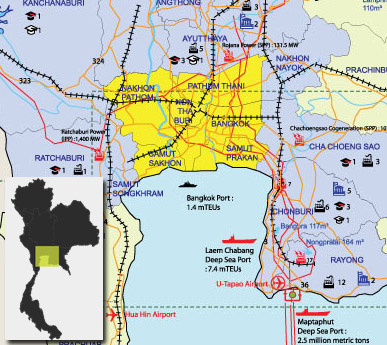 Industrial Estates, Industrial Zones, Industrial Parks and flatted factories in Thailand